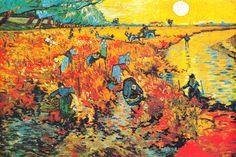 """The Red Vineyard At Arles"" - canvas print by Vincent van Gogh"