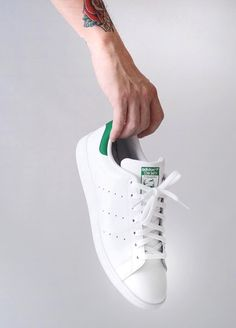 Adidas Stan Smith - Running White/Fairway Green by oldmanalan Launch your own makeup line. Adidas Stan Smith Women, Adidas Women, Stan Smith Green, Buy Sneakers, Adidas Boost, Running Women, Swagg, Fashion Shoes, Women's Fashion