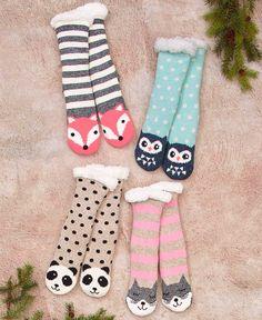 b9a8a2dcb Cozy Plush-Lined Slipper Socks
