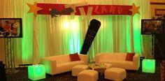 TV Land Theme Bar Mitzvah Event Decor Teen Lounge Area Party Perfect Boca Raton, FL 1(561)994-8833