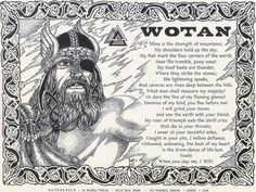 god.    This sounds wrong.  It sounds like a 14 yr old boy wrote this fantasy of WOTAN's nature. It doesn't add up to a Scandinavian Ethic.