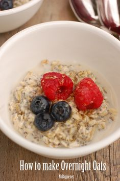 How to make Overnight Oats - you'll be amazed at how easy and delicious they are! | NoBiggie.net