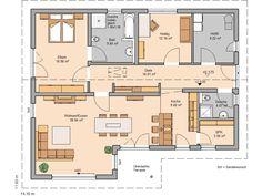 Atrium Bungalow 117 16 24 Grundriss mit Erker und Turm ...