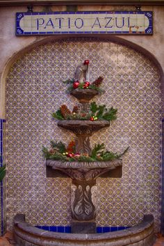 #Southwest #Christmas at Tlaquepaque in #Sedona, Arizona. Photo by Stephanie Roberts, http://ObsessiveHobbyist.com