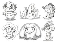 Dribbble - Dribble Monster rejects by candice ciesla