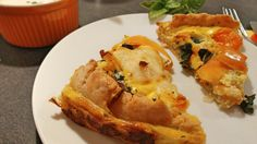 Mangold Karotten Paprika Tarte mit Knoblauchdip Pizza, Tart, Vegetarian Main Dishes, Carrots, Red Peppers, Eat Healthy, Food And Drinks, Easy Meals, Recipies