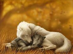 Commission: Wolf Mates VII by jocarra.deviantart.com   Digital   Pinterest   Wolf, Wolf spirit and Animal