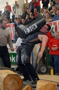 Yes, basques are coarses, this is picking up a 230kg stone xD