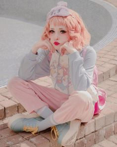 She's so pretty yOoOoO Japanese Streets, Japanese Street Fashion, Tokyo Fashion, Harajuku Fashion, Kawaii Fashion, Lolita Fashion, Cute Fashion, Harajuku Girls, Kawaii Mode