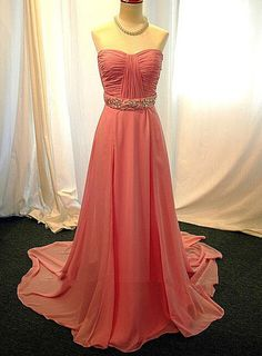 2015 Beading Sashes Prom Dresses, Real Made Sweetheart Floor-Length Evening Dresses,Chiffon Sequins Evening Dresses, Evening Dresses On Sale