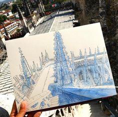 Mosteiro da batalha. Sketches from the highest tower!