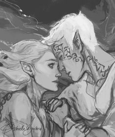 current progress: a scene from Heir of Fire. looking forward to seeing it finished. *_*