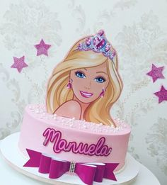 Barbie Torte, Bolo Barbie, Barbie Cake, Barbie Birthday Cake, Princess Birthday, Girl Birthday, Barbie Party Decorations, Barbie Theme Party, Bolo Rapunzel