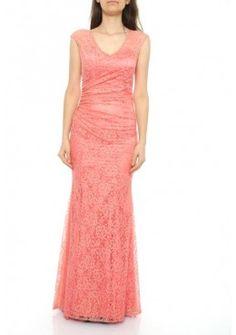 V-Ausschnitt Designer Meerjungfrau Abendkleid Altrosa