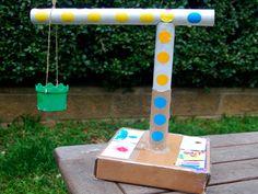 Cardboard Crane Craft . Kids Crafts . Fun & Games | PBS Parents