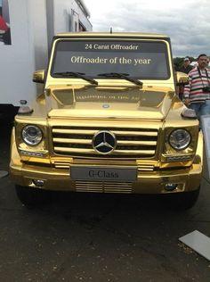 Gold G Class Mercedes