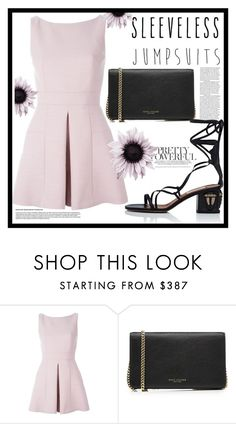 """Sleeveless Jumpsuit"" by claudiaelezi ❤ liked on Polyvore featuring Alexander McQueen, Marc Jacobs, Valentino and sleevelessjumpsuits"