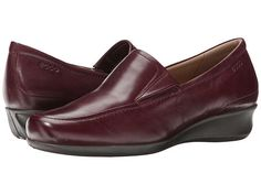 Fall pant shoe idea - comfortable brand. ECCO Abelone Slip On Bordeaux - Zappos.com Free Shipping BOTH Ways