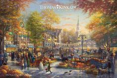 "Introducing ""The Pumpkin Festival"" – a stunning tribute to one of America's favorite Fall traditions! With autumn, comes the Fall Harvest, changing leaves, vibrant colors, crisp air and a sense of community as families prepare for the season's festivities. This new Limited Edition Art from Thomas Kinkade Studios embodies the spirit of these traditional hometown events, evoking personal memories that each of us hold dear. Visit your local Thomas Kinkade Gallery or…"