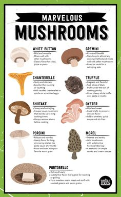Mushrooms are such #nutrition superstars! Wanna know how to use each variety?Check out the infographic for #cooking tips@