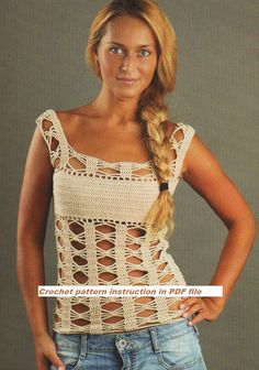 Crochet Pattern instruction for  Girls and Woman Tunic, Top,  Cover up Pattern INSTRUCTION only, PDF Files. $4.99, via Etsy.