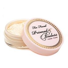 Too Faced  Primed & Poreless, the perfect finishing powder. Makes your face look flawless.