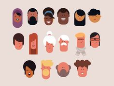 Heads en 2019 flat character design, character flat design y Character Flat Design, Character Design Sketches, Simple Character, Character Design Inspiration, Graphic Design Inspiration, Illustration Vector, People Illustration, Character Illustration, Flat Design Illustration