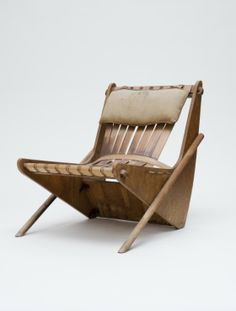 Richard Neutra; White Pine Plywood, Steel and Plastic Chair for The Federal Works Agency's Channel Heights Housing Project, c1941.