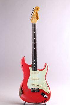 FENDER CUSTOM SHOP[フェンダーカスタムショップ] Michael Landau Signature 1963 Relic Stratocaster Fiesta Red over 3CS 2013 詳細写真