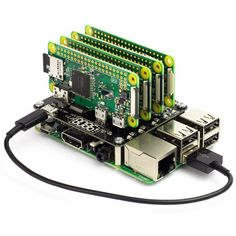 The Cluster HAT is the perfect tool for modelling, testing and teaching small scale clusters. The Cluster HAT is designed to interface a controller (Raspberry Pi with 4 Raspberry Pi Zero's configured to use USB gadget mode. This Kit Includes 1 Linux, Computer Projects, Electronics Projects, Electrical Projects, Electrical Engineering, Projetos Raspberry Pi, Raspberry Projects, Raspberry Pi Computer, Rasberry Pi