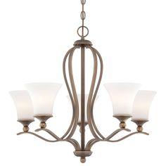 "Quoizel SPH5005 Sophia 5 Light 27"" Wide Chandelier with Etched Glass Palladian Bronze Indoor Lighting Chandeliers"