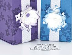 Stampin' Up! #1 Demonstrator Pootles -Tall Small Beautiful Bouquet Box Tutorial