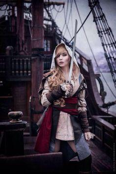 Steampunk female pirate
