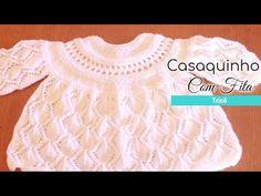 Casaquinho de tricô Folhas com fita | Casaquinho Leaf – Tricotando Crochê Manta Crochet, Crochet Baby, Baby Knitting, Lace Shorts, Ruffle Blouse, Youtube, Women, Fashion, Make Shoes