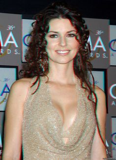 Shania Twain | Flickr – Compartilhamento de fotos! 3d anagliph photo, use red cian glasses to view