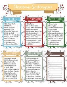 Free Printable Christmas Scattergories Game - DIY Adulation Start a new holiday tradition with your family and friends this year. This free printable Christmas Scattergories game is perfect for a festive fun night! Fun Christmas Party Games, Xmas Games, Printable Christmas Games, Christmas Games For Family, Holiday Games, Holiday Activities, Holiday Fun, Christmas Holidays, Christmas Decorations