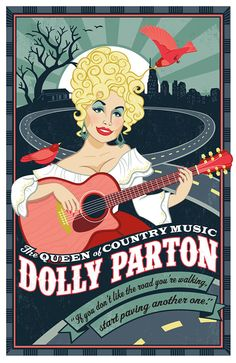 Just had to buy this on Etsy -   Love for Dolly Parton Print of illustration by LucieRicePrints