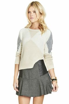 Cute colorblocked bcbgeneration cozy sweater