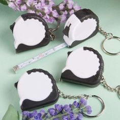 Perfectly Plain Collection Key Chain Measuring Tape Favors