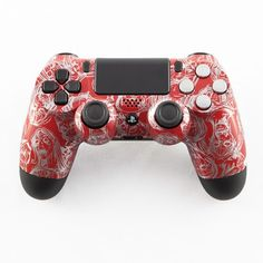 Silver Zombie on Red PS4 Controller