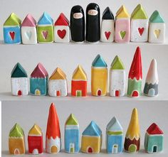 ♥♡♥ littlereddoor houses and people. Tiny. Gnomes. Etsy.