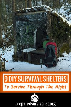 Creating survival shelters is a very important survival skill to have. Knowing how to create shelter in different environments is key to survival. Be prepared for any survival situation by knowing how to make these 9 survival shelters.