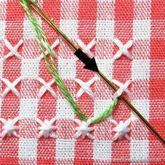 Cómo hacer bordado Chicken Scratch: la adición de una frontera frondosa