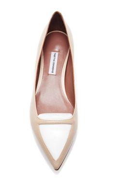 Alexa Two-Tone Leather Flats by Tabitha Simmons - Moda Operandi