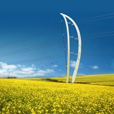 The six shortlisted entries in the RIBA competition to design new electricity pylons for the UK have been announced. Amanda Levete Architects and Arup propose a bow-like pylon (top), while Gustafson Porter have designed a structure with curving branches (above). Ian Ritchie Architects collaborated with Jane Wernick Associates to design an asymmetrical pylon (above). Knight