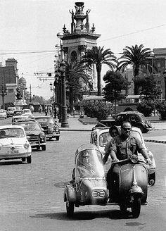 Vintage photo . Barcelona 1962. Catalonia