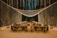 Setting the mood is a serious job when it comes to your wedding, so we're sharing gorgeous fairy light designs that add instant romance! Wedding Ceremony, Our Wedding, Wedding Venues, Dream Wedding, Light Wedding, Fairy Lights Wedding, Wedding Lighting Decor, Outdoor Wedding Lights, Twinkle Lights Wedding