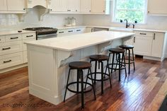 Kitchen Remodel {REVEAL} love the stools. Target. http://www.target.com/p/threshold-lewiston-adjustable-height-swivel-stool/-/A-14392521#prodSlot=medium_1_42&term=adjustable+bar+stool-------http://loveofhomes.blogspot.com/2014/05/new-kitchennew-furniture.html