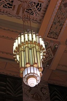 art deco chandelier | lighting + home decor