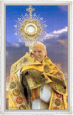Pope John Paul II and the Eucharist Monstrance. Saint Jean Paul Ii, Pape Jean Paul Ii, St John Paul Ii, Saint John, Paul 2, Catholic Saints, Roman Catholic, Juan Pablo Ll, Religion Catolica